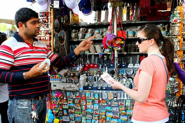 Bargaining to buy nepal souvenir