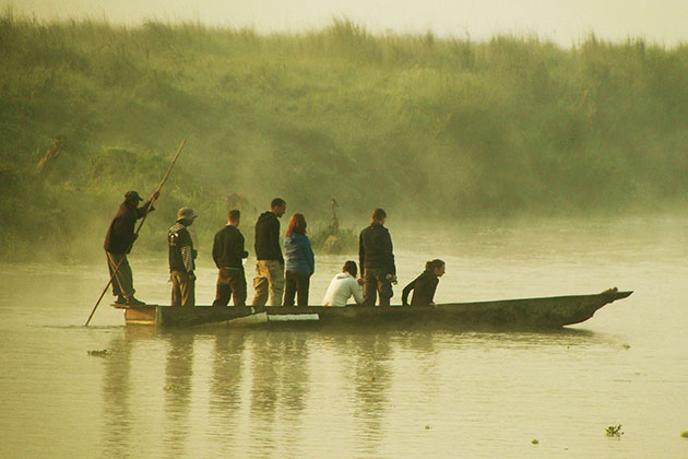 Canoeing Rapti River - nepal family tour itinerary