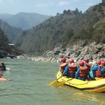Rafting along the Trishuli River