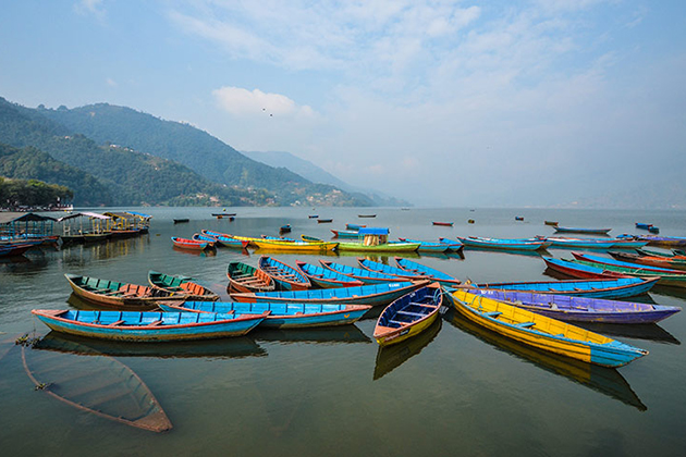 Row Boat Phewa Lake - nepal adventure tour