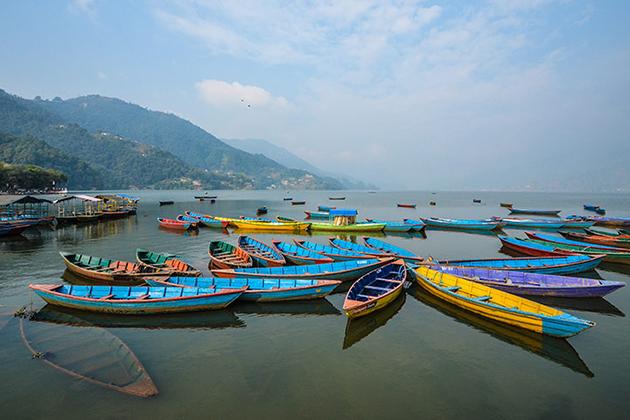 Row Boat in Phewa Lake