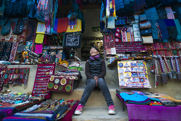 Souvenir shop in Nepal