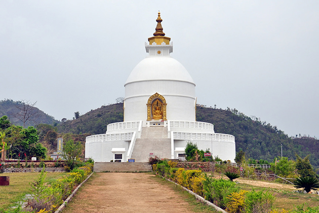 World Peace Pagoda - nepal tour with family
