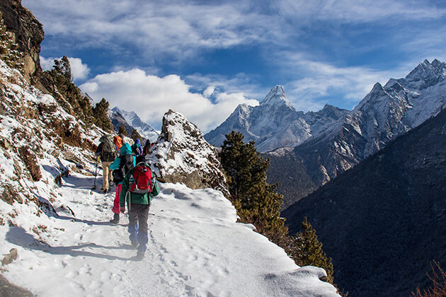 best time to travel nepal - trekking in winter