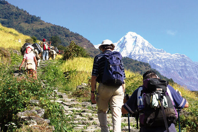 best time to visit nepal - trekking autumn