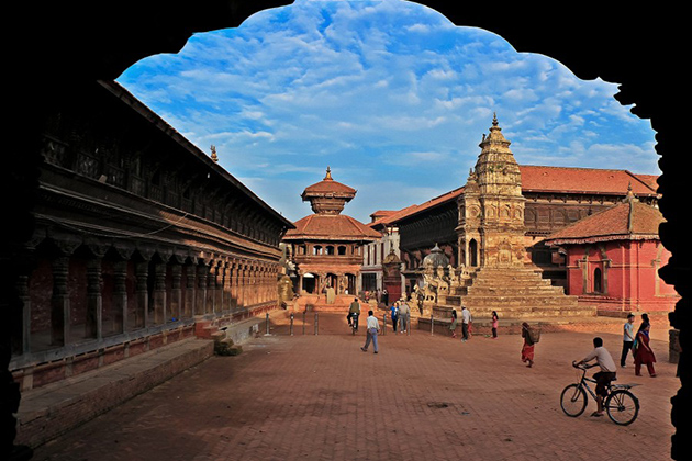Bhaktapur Durbar Square is a good place to see
