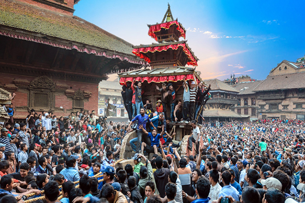 Bisket Jatra - The Chariot Festival Of Bhaktapur in Nepal