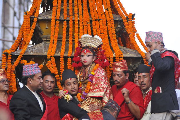 How is the living Nepal Goddess Kumari Chosen