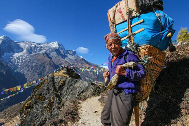 Sherpa People in Nepal
