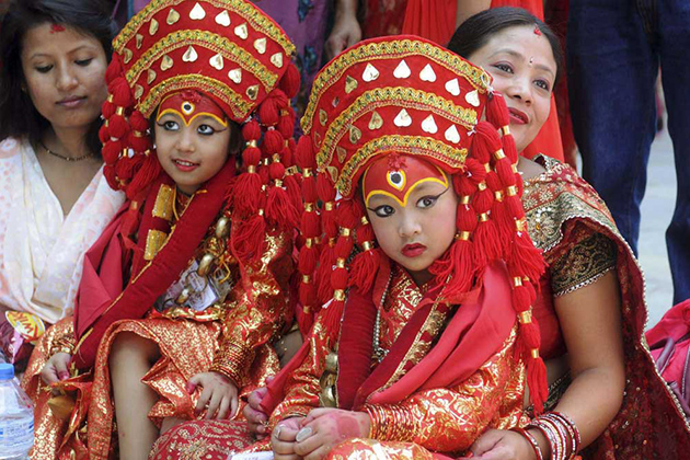 Traditional Dress and Ornaments of a Kumari