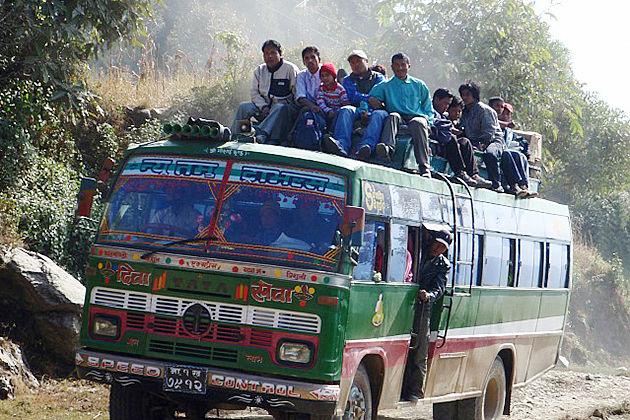 local bus nepal transportation