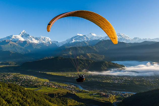paragliding - nepal tour itineraries