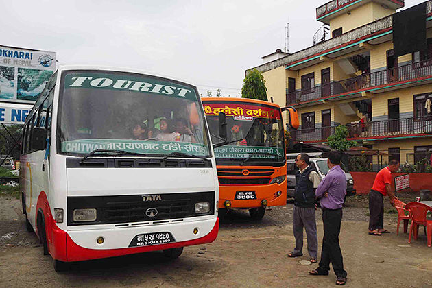 tourist bus - Transportation in Nepal