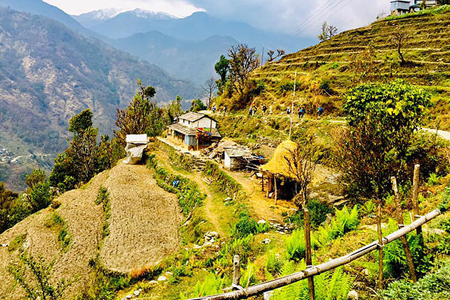 Ghandruk trek - golden triangle tour from nepal