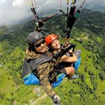 paragliding ponakha - nepal tour sightseeing
