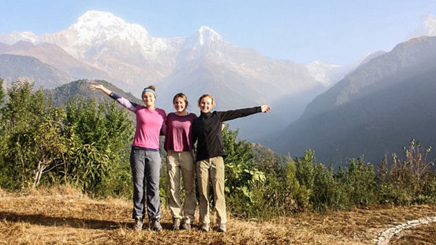 female travel nepal vacation