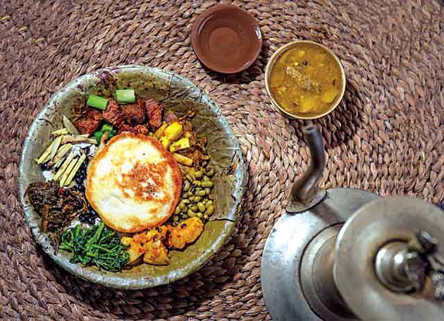 nepali cuisine - tour itinerary to nepal