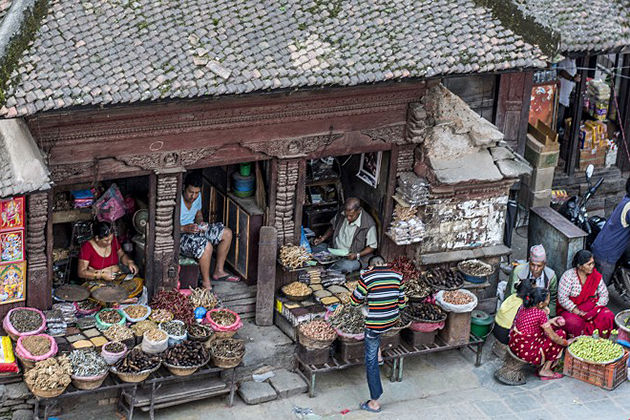 the old bazaar - top places pokhara