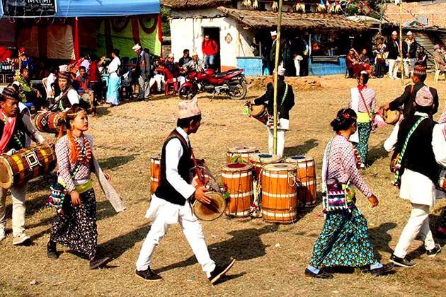 dhan narch - traditional dance of nepal