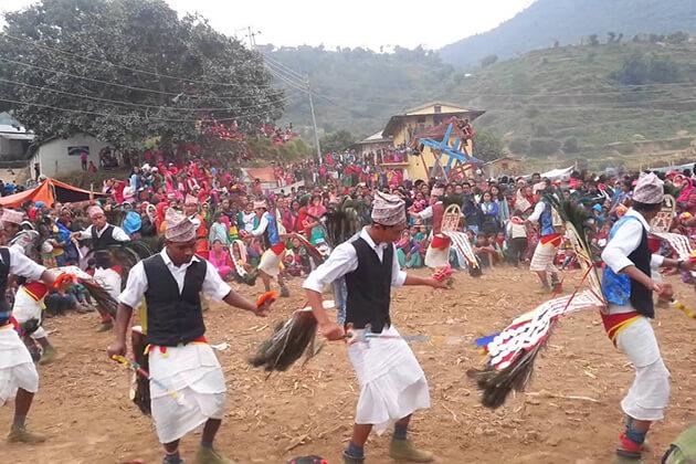 mayur nanch - classic dance in nepal