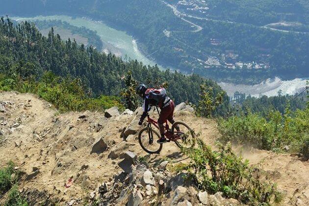 mountain biking - adventure trip in nepal