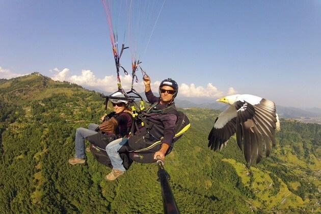 paragliding - nepal adventure trip