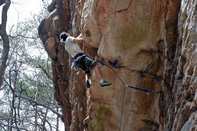 rock climbing - best nepal adventure tours