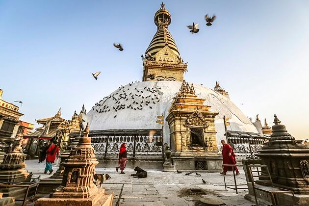 swayambhunath stupa - culture tour in nepal