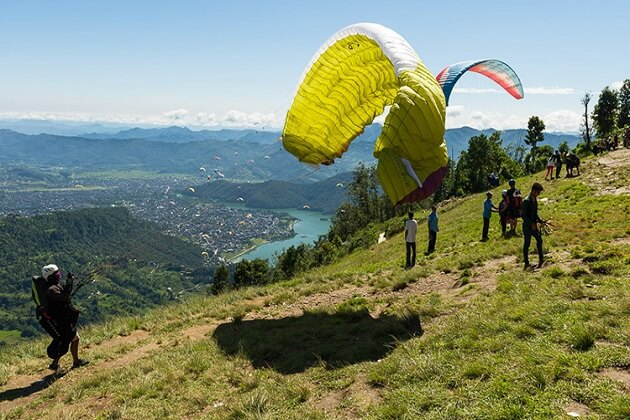 Paragliding nepal - nepal best thing to do see