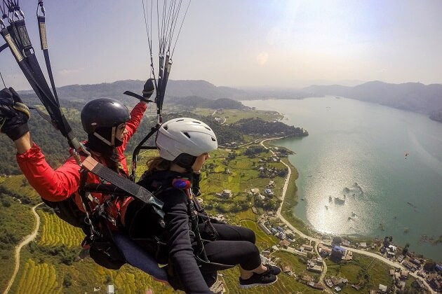 Paragliding of nepal