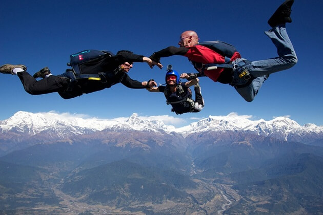 Skydive - best thing to do and see in nepal