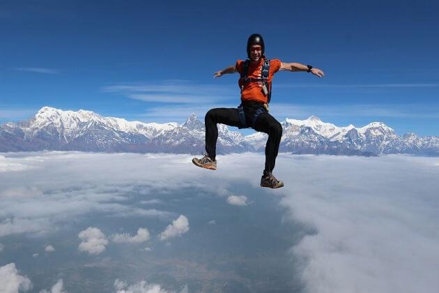 pokhara skydive - skydive in nepal
