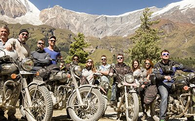 Royal Enfield Motorbike - adventure tour in Nepal