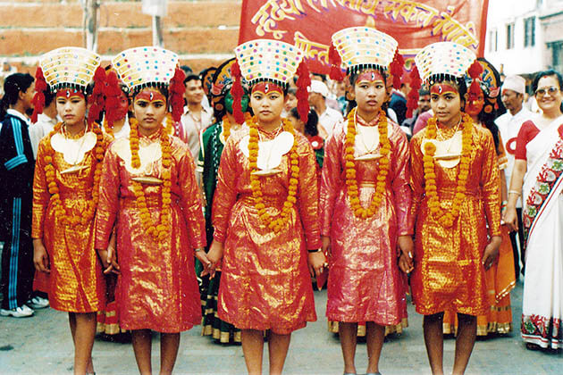 Nepali New Year with traditional costume