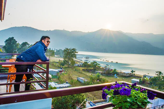 New year in Nepal with Phewa lake